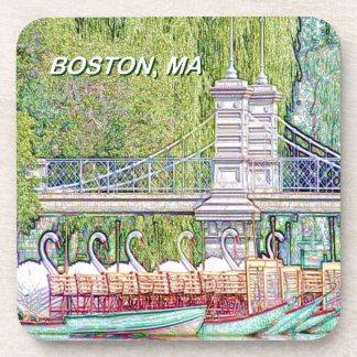 Dessous-de-verre Bateaux de cygne de Boston dans le filtre de