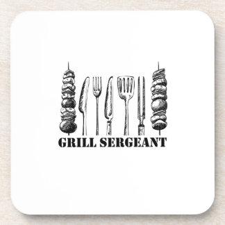 Dessous-de-verre BBQ de sergent de gril grillant les femmes drôles