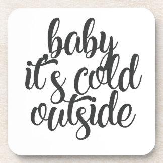 Dessous-de-verre Bébé c'est extérieur froid