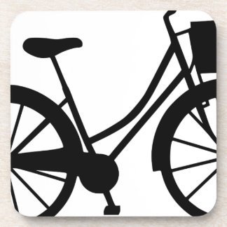 Dessous-de-verre Bicyclette avec le panier