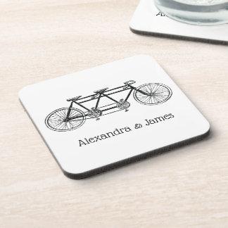 Dessous-de-verre Bicyclette vintage construite pour deux/vélo