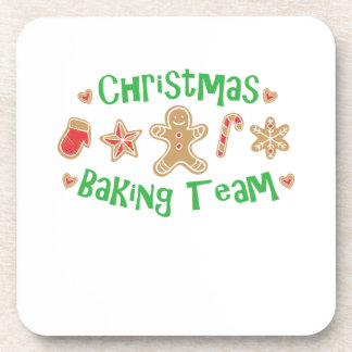 Dessous-de-verre Biscuit de vacances d'équipe de cuisson de Noël