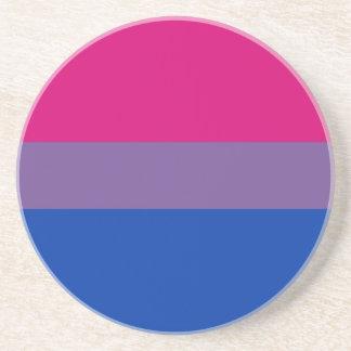 Dessous de verre bisexuels de drapeau de fierté