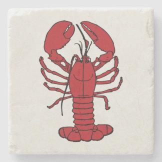 Dessous de verre blancs rouges de homard mignon dessous-de-verre en pierre