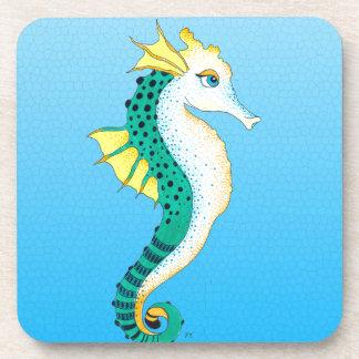 Dessous-de-verre bleu turquoise d'hippocampe