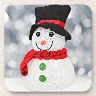 Dessous-de-verre Bonhomme de neige du pays des merveilles d'hiver