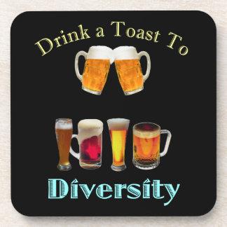 Dessous-de-verre Buvez d'un pain grillé à la diversité