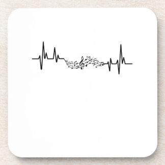Dessous-de-verre Cadeau musical de joueur de Heartbea de musique