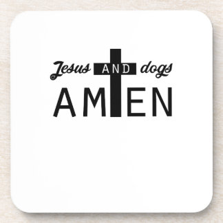 Dessous-de-verre Cadeaux drôles chrétiens de Jésus et de chiens