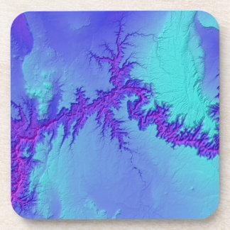 Dessous-de-verre Canyon grand de style lumineux de nébuleuse de