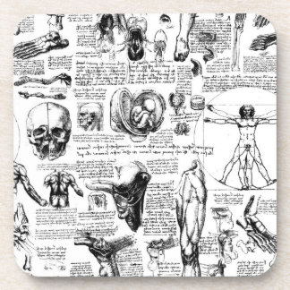 Dessous-de-verre Carnet à dessins de l'anatomie de da Vinci