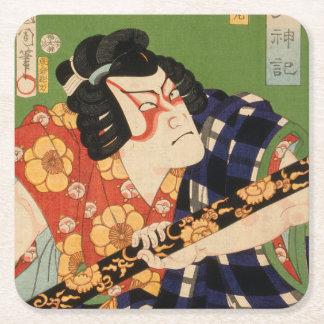 Dessous-de-verre Carré En Papier Acteur japonais (#1) (copie vintage de Japonais)