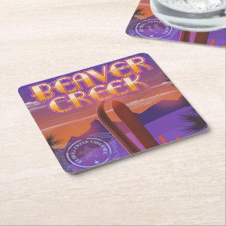 Dessous-de-verre Carré En Papier Affiche de ski de Beaver Creek le Colorado