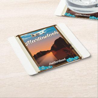 Dessous-de-verre Carré En Papier Affiche de voyage de Martinsloch Suisse