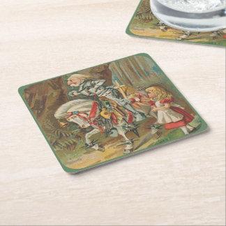 Dessous-de-verre Carré En Papier Alice et le chevalier blanc