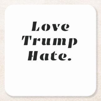 Dessous-de-verre Carré En Papier Anti-Atout de haine d'atouts d'amour