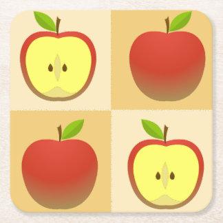 Dessous-de-verre Carré En Papier Apple et demi de motif