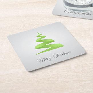 Dessous-de-verre Carré En Papier Arbre de Noël simple de ruban de Noël