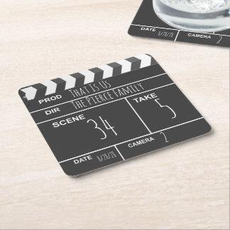 Dessous-de-verre Carré En Papier Bardeau fait sur commande personnalisé de film de