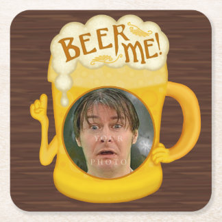 Dessous-de-verre Carré En Papier Bière drôle je photo personnalisée par | potable