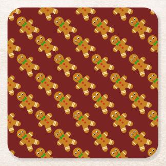 Dessous-de-verre Carré En Papier Bonhomme en pain d'épice