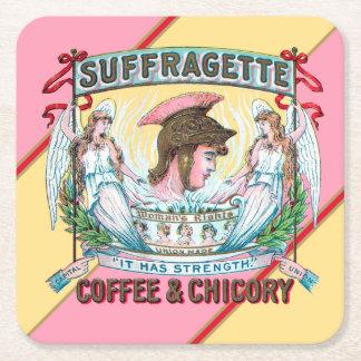 Dessous-de-verre Carré En Papier Café et chicorée de suffragette