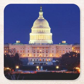 Dessous-de-verre Carré En Papier Capitol des Etats-Unis de Washington DC au