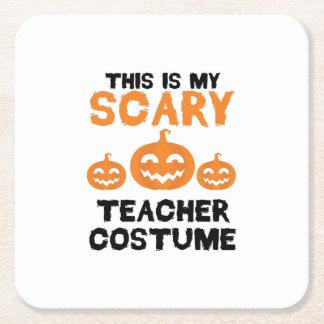Dessous-de-verre Carré En Papier C'est mon costume effrayant Halloween de