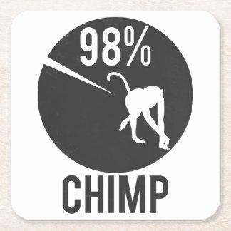 Dessous-de-verre Carré En Papier chimpanzé de 98%