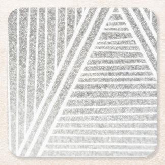 Dessous-de-verre Carré En Papier Côté positif