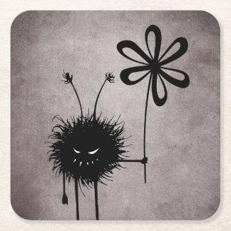 Dessous-de-verre Carré En Papier Cru mauvais d'insecte de fleur