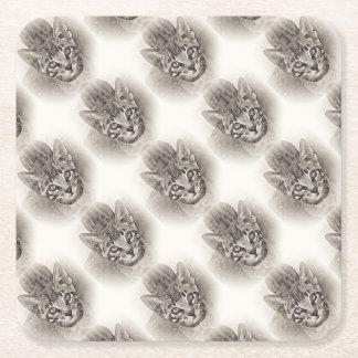 Dessous-de-verre Carré En Papier Dessin mignon de chaton du Bengale