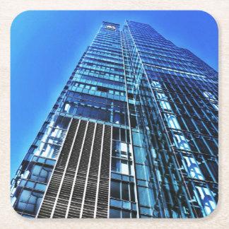 Dessous-de-verre Carré En Papier Dessous de verre bleus de papier de bâtiment