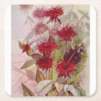 Dessous-de-verre Carré En Papier Dessous de verre botaniques de papier de fleur