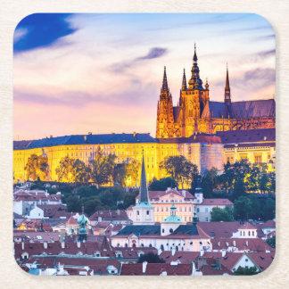 Dessous-de-verre Carré En Papier Dessous de verre carrés Prague de coutume