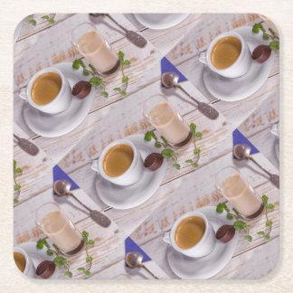 Dessous-de-verre Carré En Papier Dessous de verre confortables de café