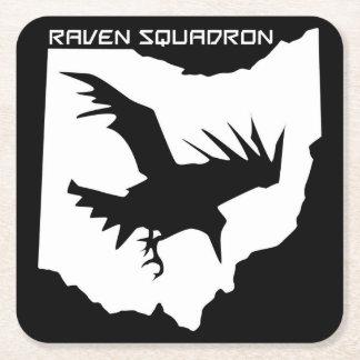 Dessous-de-verre Carré En Papier Dessous de verre de boissons d'escadron de Raven