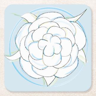 Dessous-de-verre Carré En Papier Dessous de verre de fleur