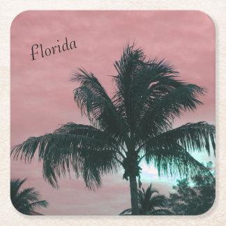 Dessous-de-verre Carré En Papier Dessous de verre de la Floride