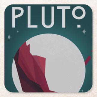 Dessous-de-verre Carré En Papier Dessous de verre de l'espace de Pluton