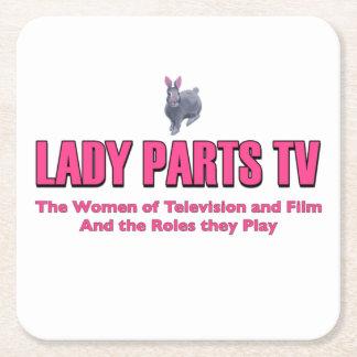 Dessous-de-verre Carré En Papier Dessous de verre de Madame Parts TV