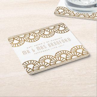 Dessous-de-verre Carré En Papier Dessous de verre de mariage et de célébration de