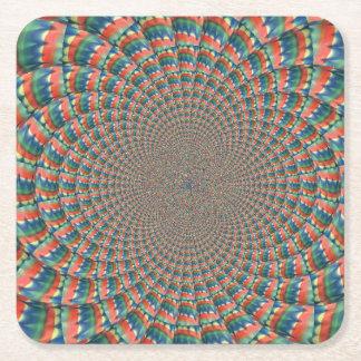 Dessous-de-verre Carré En Papier Dessous de verre de papier d'art abstrait