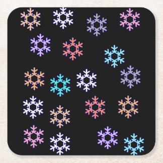 Dessous-de-verre Carré En Papier Dessous de verre de papier de flocons de neige