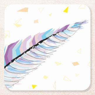 Dessous-de-verre Carré En Papier Dessous de verre de plume