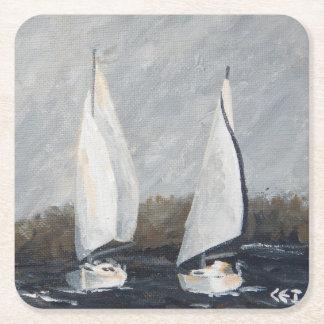 Dessous-de-verre Carré En Papier Dessous de verre du voilier #3