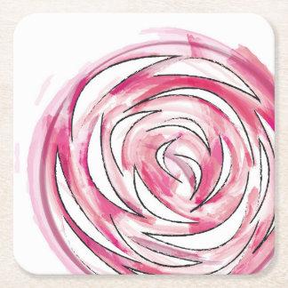 Dessous-de-verre Carré En Papier Dessous de verre roses