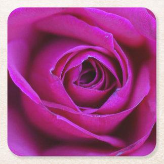 Dessous-de-verre Carré En Papier Dessous de verre roses de panneau de Pub