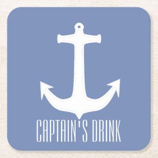 Dessous-de-verre Carré En Papier Drink Anchor Paper Coaster de capitaine