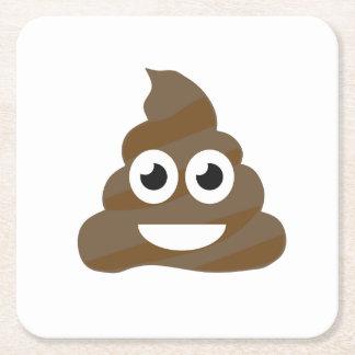 Dessous-de-verre Carré En Papier Dunette mignonne drôle Emoji